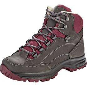 Hanwag Alta Bunion Shoes Women asphalt/dark garnet